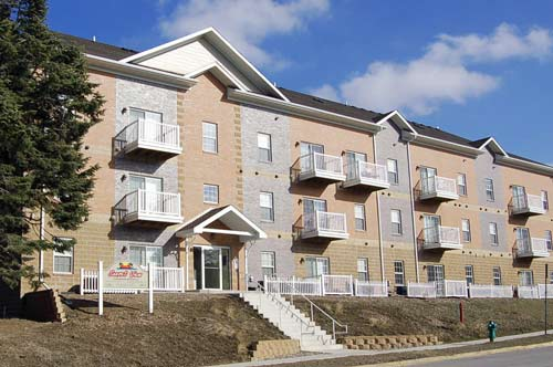 Sunset View Apartment Exterior in Ames, Iowa
